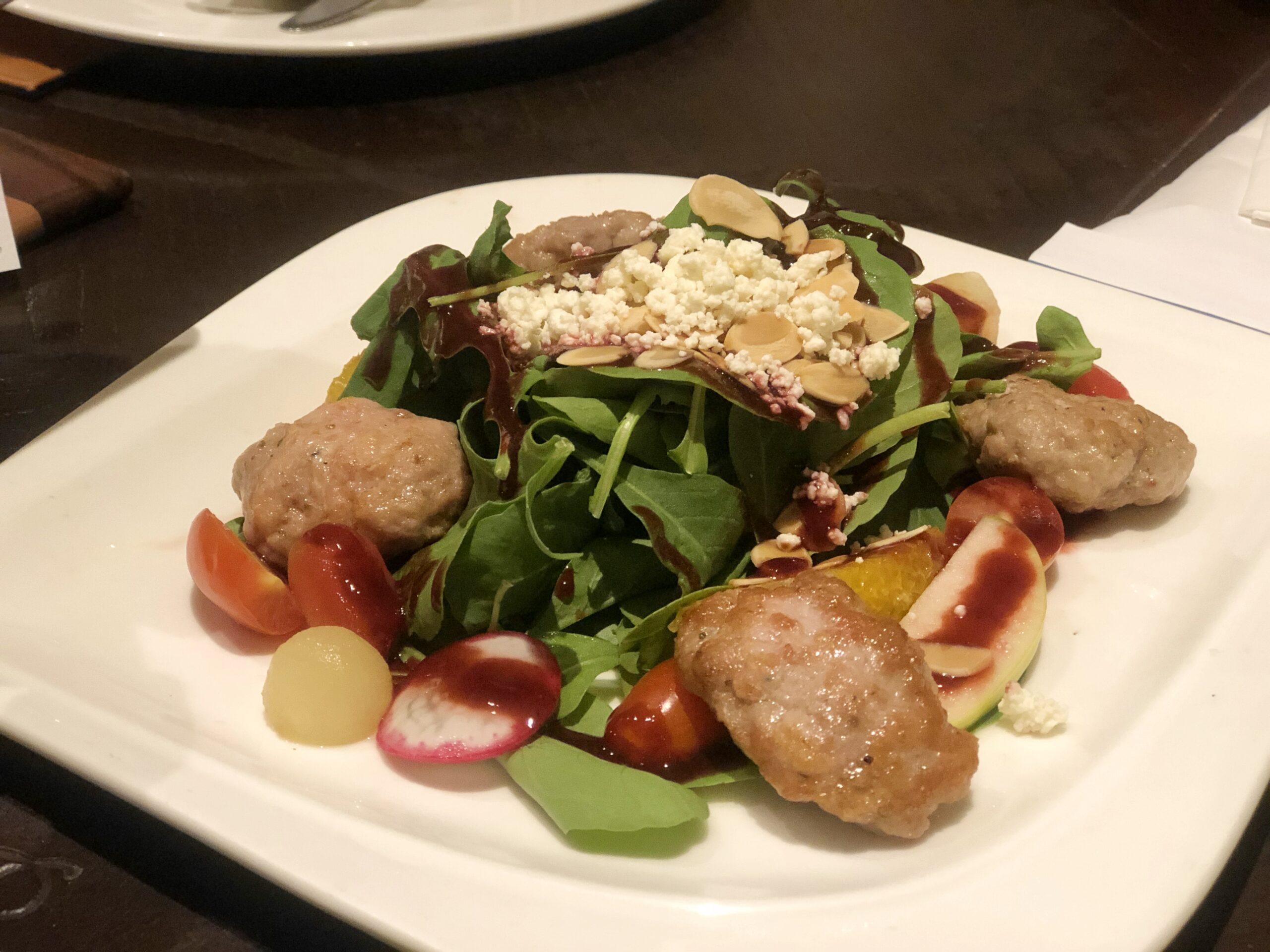 Rocket salad with Italian sausage Sorrento