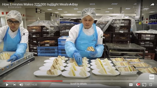 Emirates Makes 225,000 in-flight meals a day