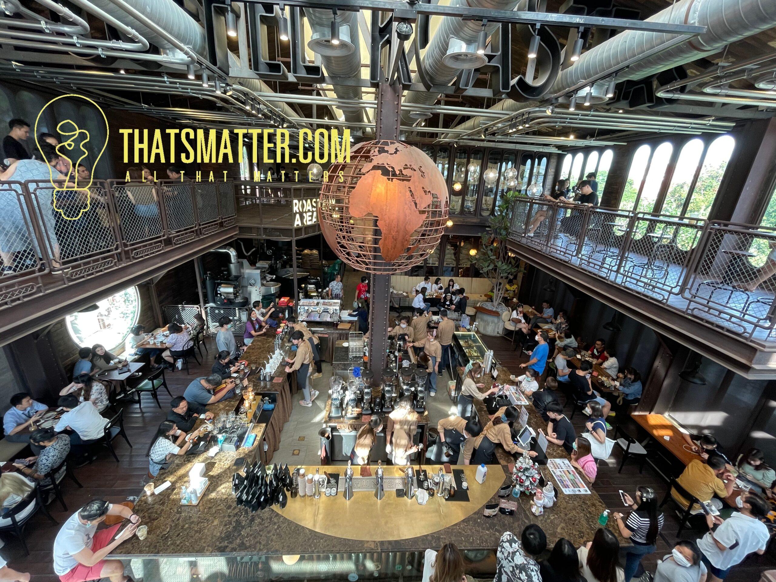 ร้านจะเป็นการตกแต่งเป็นคาเฟ่สไตล์โรงคั่วกาแฟ