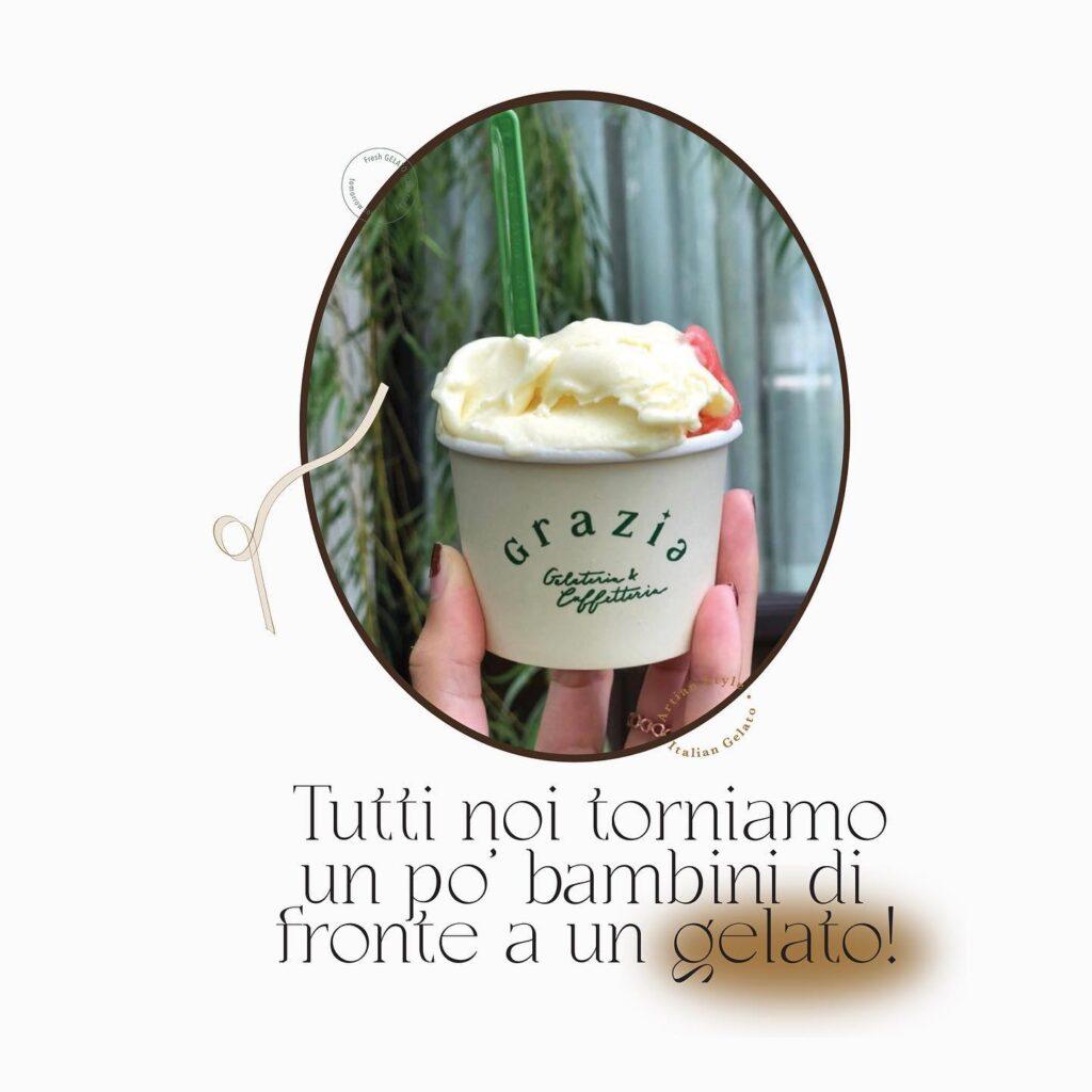เมนูร้าน Grazia gelato and coffee