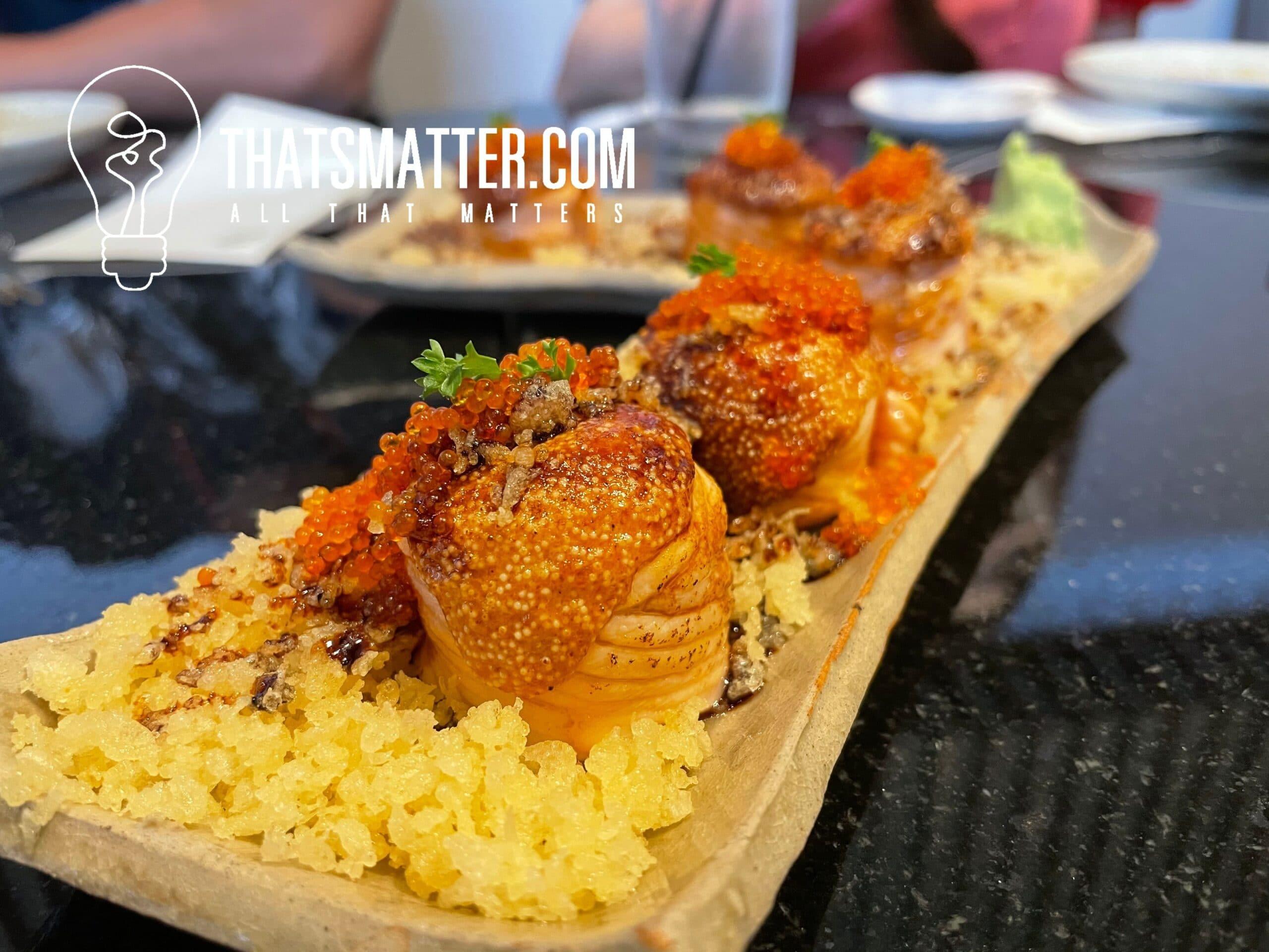 Shichi อาหารญี่ปุ่น Shichi roll (ราคา 370 บาท) เป็นเมนู Signature ของทางร้าน