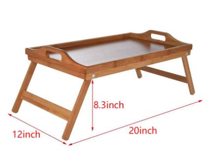 ขนาดโต๊ะอาหารเช้าในเตียง