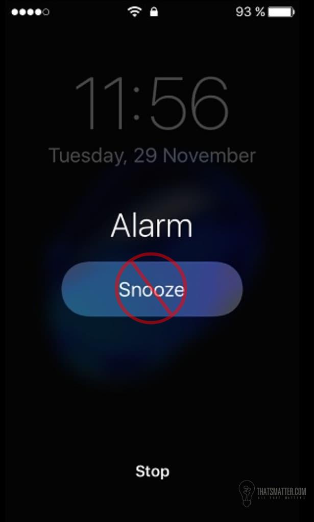 เลิกกดปุ่ม Snooze