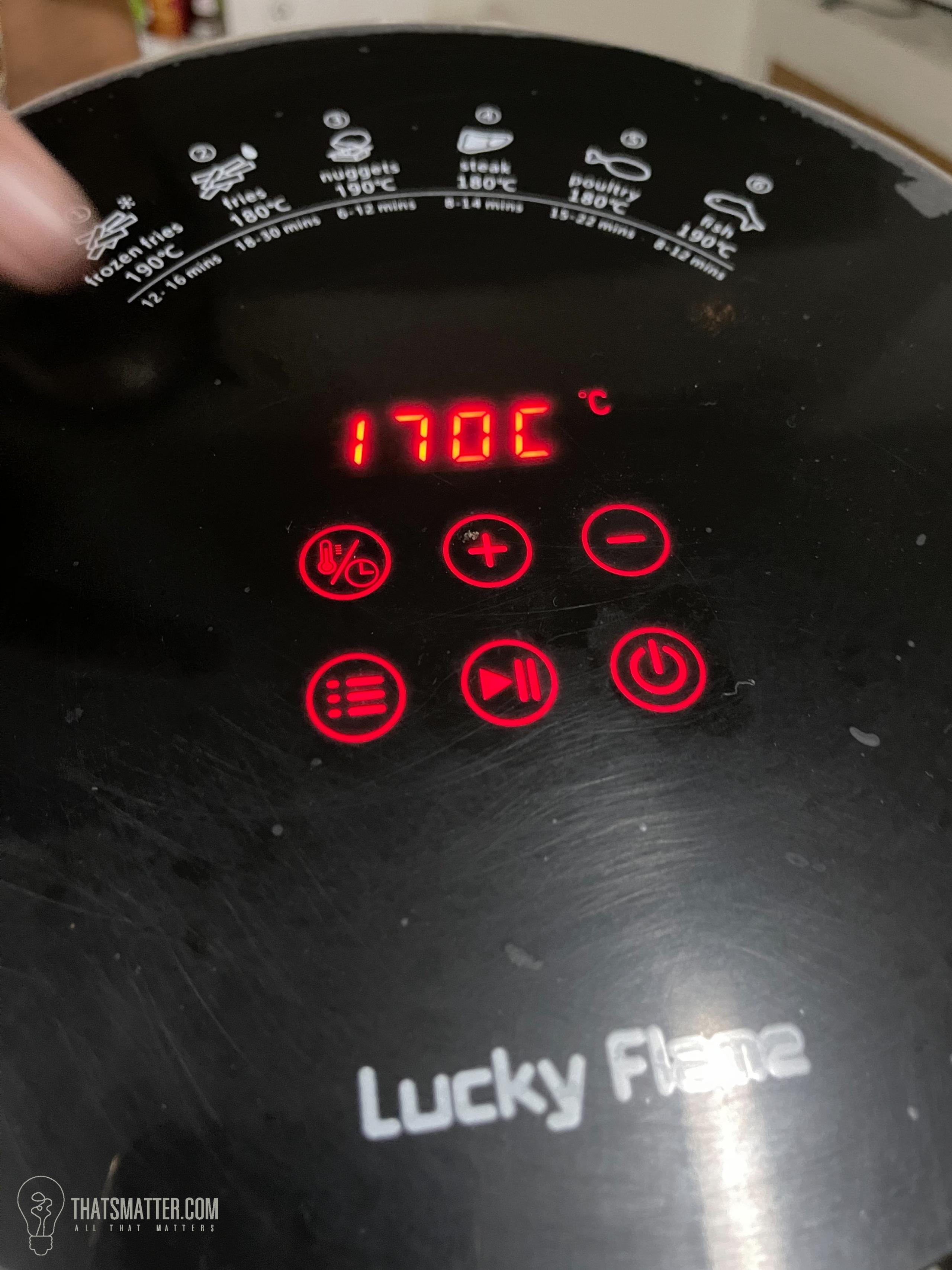LUCKY FLAME หม้อทอดไร้น้ำมัน ควบคุมด้วยระบบอิเล็กทรอนิกส์