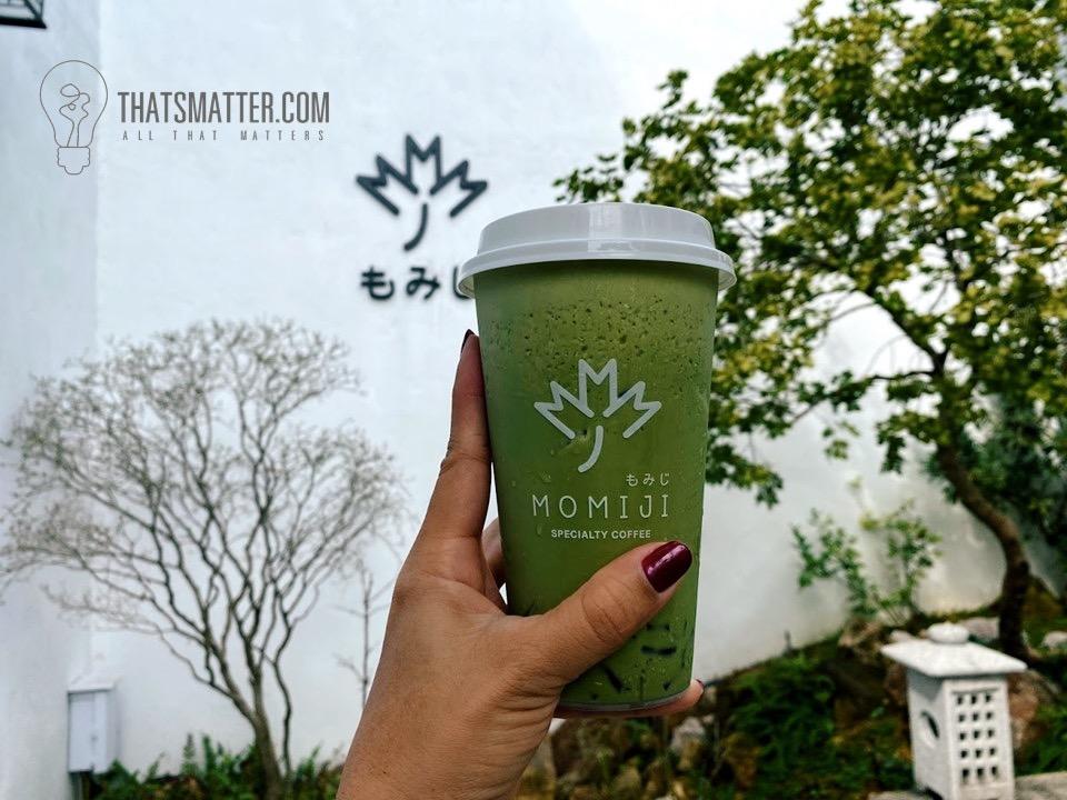 ชาเขียวมัทฉะ ที่เข้มข้นหอมกลิ่นชาเขียว momiji cafe