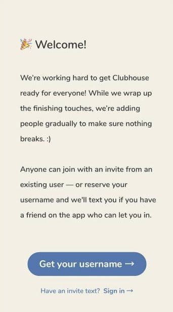 โหลด Clubhouse มาใช้งานครั้งแรก