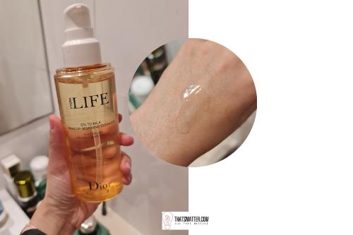 คลีนซิ่ง ออยล์ รีวิว Dior Hydra Life Oil To Milk
