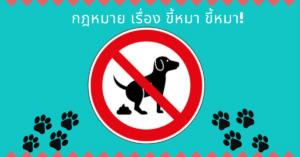 ขี้หมา กฎหมาย